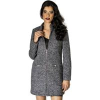 Casaco P.Coat Handbook Feminino - Feminino-Cinza