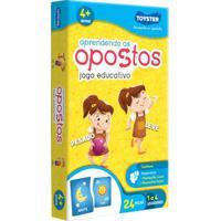 Jogo Educativo - Aprendendo Os Opostos - 24 Peças - Toyster