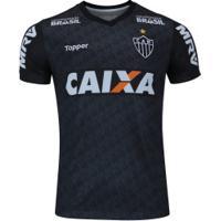 Camisa De Treino Do Atlético-Mg Comissão Técnica 2018 Topper - Masculina - Cinza Escuro
