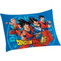 Fronha Dragon Ballâ®- Azul & Laranja- 70X50Cm- Lelepper