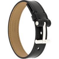 Tom Ford Bracelete De Couro - Preto