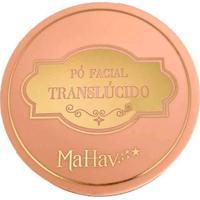 Pó Facial Translúcido Mahav Marrom Multicores