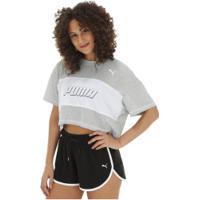 Blusa Cropped Puma Modern Sports - Feminina - Cinza Claro