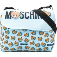 Moschino Kids Bolsa Tiracolo Com Estampa De Ursos - Azul