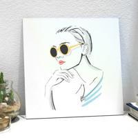 Placa Decorativa - Fashion Girl Portrait