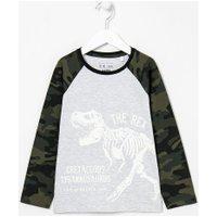 Camiseta Infantil Estampa Brilha No Escuro - Tam 5 A 14 Anos | Fuzarka (5 A 14 Anos) | Cinza | 9-10
