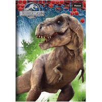 Caderno Foroni Brochura Capa Dura Jurassic World 96 Folhas