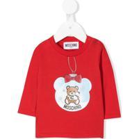 Moschino Kids Blusa 'Teddy' - Vermelho