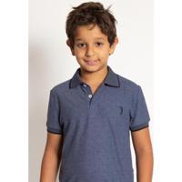 Camisa Polo Infantil Aleatory Mini Print Fair Masculina - Masculino