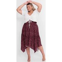 Blusa Almaria Plus Size Tal Qual Cropped Malha Can