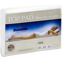 Pillow Top De Látex Casal Queen Size Capa Bambu 198X158X3 Cm Top Pad Dunlopillo