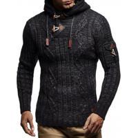 Cardigan Masculino Knit Button - Preto Xg