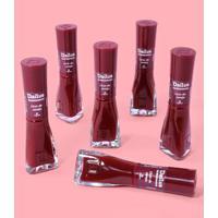 Caixa Com 6 Esmaltes - Licor De Cereja