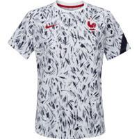 Camisa Pré- Jogo Seleção Da França 20/21 Nike - Feminina - Branco
