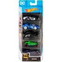 Pack 5 Carrinhos Hot Wheels Batman - Mattel