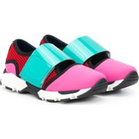 Marni Kids Tênis Cano Baixo Color Block - Rosa