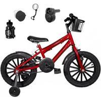 Bicicleta Infantil Aro 16 Kit Com Acelerador Sonoro - Masculino