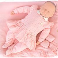 Saída De Maternidade Sonho Mágico Suedine Jasmine Rosa