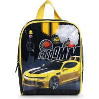 Lancheira Infantil Luxcel Stock Car Amarelo