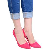 Sapato Feminino Scarpin Santa Lolla Rosa Chock