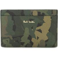 Paul Smith Porta-Cartões Com Estampa Camuflada - Verde