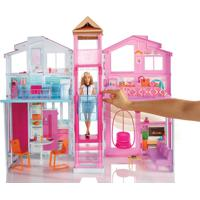 Playset Real Super Casa 3 Andares - Barbie - Mattel - Feminino-Incolor