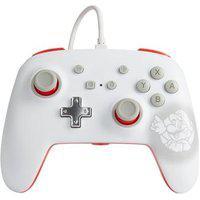 Controle Power A Para Nintendo Switch Enwired Controller Mario White, Com Fio - 1518385-01