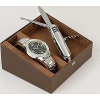 Kit De Relógio Analógico Mondaine Masculino + Canivete - 99350G0Mvne4K Prateado - Único