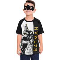 Camiseta Batman Com Máscara Branco