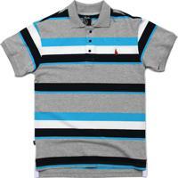 Camisa Simple Skateboard Gola Polo Basic Blue