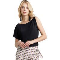 Blusa Mx Fashion Dupla Arya Preta