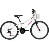 Bicicleta Aro 24 - Ceci - Branco Personalizado - Caloi