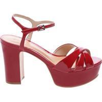 Sandália Disco Verniz Tango Red | Schutz