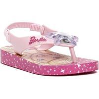 Sandália Infantil Barbie Infantil Feminino - Feminino-Rosa