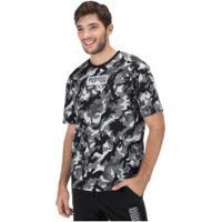 Camiseta Puma Rebel Camo - Masculina - Cinza/Preto