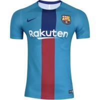 Camisa Barcelona Dry Squad Nike - Masculina - Azul
