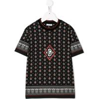 Dolce & Gabbana Kids Camiseta Com Estampa De Coroa - Preto