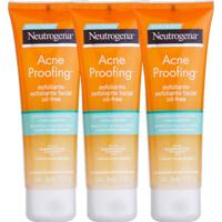 Kit 3 Esfoliantes Neutrogena Acne Proofing 100G Incolor