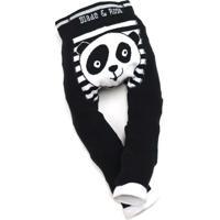 Meia Calça Legging Panda Wwf Blade And Rose Preto