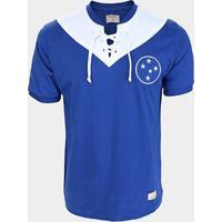 Camisa Cruzeiro 1943 Retrô Mania Masculina - Masculino-Azul+Branco