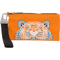 Kenzo Tiger Embroidered Zipped Wallet - Laranja