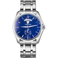 Relógio Tevise 8379-002 Masculino Automático Pulseira De Aço - Azul