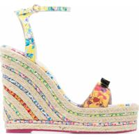 Sophia Webster Laurellie 140 Floral Wedge Sandals - Rosa