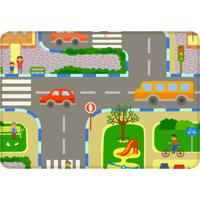 Tapete De Atividades Infantil Cidade Único Verde