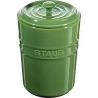 Porta Mantimentos Cerâmica 1 Litro Verde Basil Staub