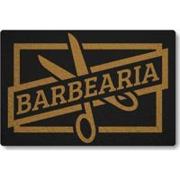Tapete Capacho Barbearia - Preto