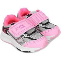 Tênis Infantil Happy Luck Baby Velcro - Feminino-Rosa Bebê