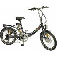 Bicicleta Elétrica Biobike, Quadro Em Alumínio, Modelo Js 20-Preta