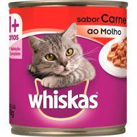 Ração Para Gatos Whiskas Sabor Carne Ao Molho Lata Com 290G