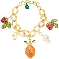 Dolce & Gabbana Pulseira Corrente Com Pingentes - Dourado